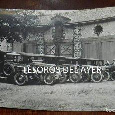 Postales: FOTOGRAFIA DE AUTOMOVILES CON SUS CONDUCTORES, FINALES DE SIGLO XIX, TAMAÑO POSTAL, NO CIRCULADA.. Lote 138548562