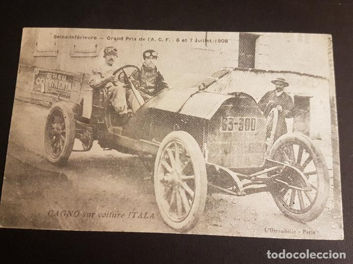 POSTAL AUTOMOVIL COCHE MARCA ITALA GRAN PREMIO AUTOMOVILISMO 1908 (Postales - Postales Temáticas - Coches y Automóviles)