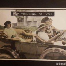 Postales: POSTAL AUTOMOVIL AMIGOS EN COCHE. Lote 140600182
