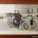 Postales: POSTAL DEL REY ALFONSO XIII EN SU AUTOMOVIL - COLOREADA - SIN CIRCULAR - MAGNIFICO ESTADO. Lote 142807954