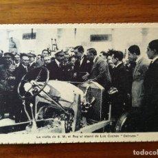 Postales: POSTAL DEL REY ALFONSO XIII VISITANDO EL STAND DE LOS COCHES CEIRANO - SIN CIRCULAR MAGNIFICO ESTADO. Lote 142808614