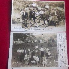 Postales: A-30.- 2 POSTALES FOTOGRAFICAS DE GRUPO DE MOTORISTAS , AÑO- 1930, GUILLERIES Y FONT . Lote 143794086