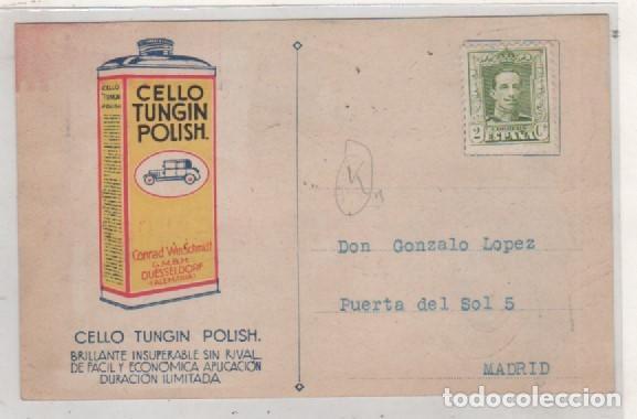Postales: Postal publicitaria su automovil brilla con Cello Tungin Polish. Madrid y Barcelona. - Foto 2 - 144948574