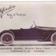Postales: TARJETA POSTAL PUBLICITARIA AUTOMÓVILES PATHFINDER (MADRID) AÑOS 10 - 20. Lote 147634394