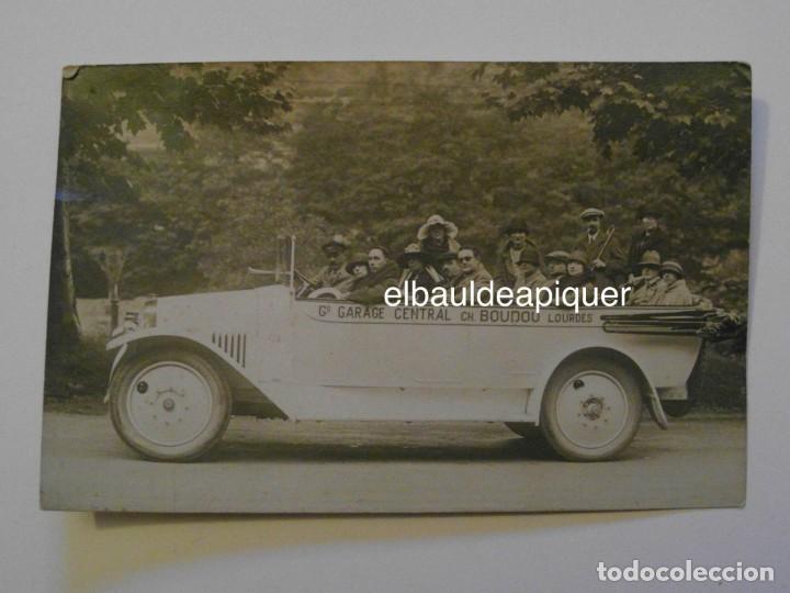 AUTOBUS CON PERSONAS. GARAGE CENTRAL BOUDOU DE LOURDES. G. GAHOU. H-P. SIN CIRCULAR. CCTT (Postales - Postales Temáticas - Coches y Automóviles)