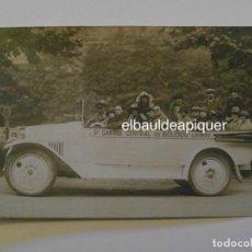 Postales: AUTOBUS CON PERSONAS. GARAGE CENTRAL BOUDOU DE LOURDES. G. GAHOU. H-P. SIN CIRCULAR. CCTT. Lote 149945714