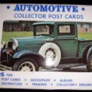 Postales: AUTOMOTIVE COLLECTOR POST CARDS SERIE 10. 10 POSTALES COCHES. Lote 150059722