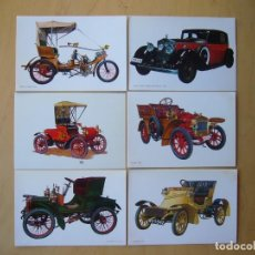 Postales: LOTE 6 POSTALES DE COCHES. Lote 150611062
