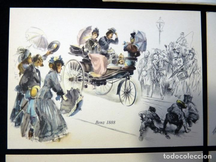 Postales: LOTE DE 4 ANTIGUAS POSTALES + SOBRE ORIGINAL, COCHES MERCEDES-BENZ, STUTTGART. SOUVENIR AÑOS 50. NUE - Foto 4 - 152417914