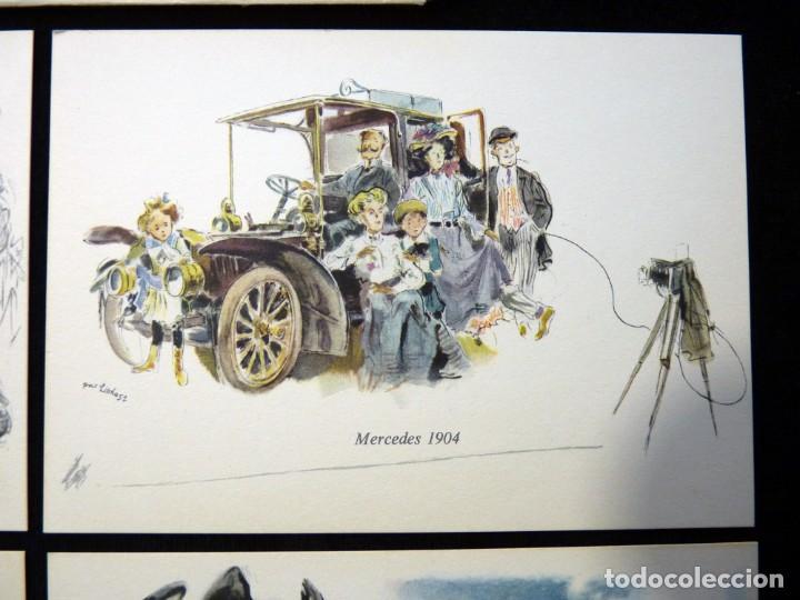 Postales: LOTE DE 4 ANTIGUAS POSTALES + SOBRE ORIGINAL, COCHES MERCEDES-BENZ, STUTTGART. SOUVENIR AÑOS 50. NUE - Foto 5 - 152417914
