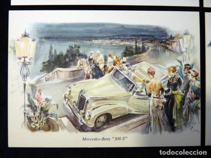 Postales: LOTE DE 4 ANTIGUAS POSTALES + SOBRE ORIGINAL, COCHES MERCEDES-BENZ, STUTTGART. SOUVENIR AÑOS 50. NUE - Foto 6 - 152417914