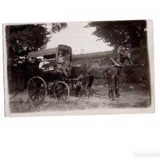 Postales: COCHE DE CABALLOS, DILIGENCIA.- POSTAL FOTOGRÁFICA. Lote 155018014