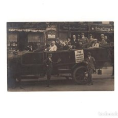 Postales: LLOYD. AUTO RUNDFAHRT. RECORRIDO EN COCHE POR BERLIN. POSTAL FOTOGRÁFICA. Lote 155019250