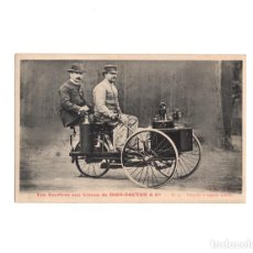 Postales: DION-BOUTON & CIA.- TRICICLO DE VAPOR 1886. Lote 223090052