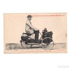 Postales: DION-BOUTON & CIA.- EL SEÑOR DION SOBRE SU TRICICLO DE VAPOR 1887. Lote 204525110