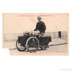 Postales: DION-BOUTON & CIA.- TRICICLO DE VAPOR 1888. MONTADO EL SEÑOR DION. Lote 223090035