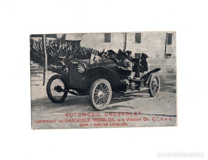 AUTOMÓVIL CHEVROLET LUBRIFICADOS CON GARGOYLE MOBILOIL. (Postales - Postales Temáticas - Coches y Automóviles)