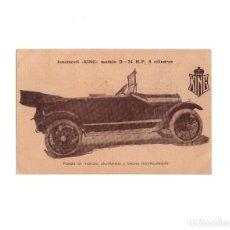 Postales: AUTOMOVIL KING. MODELO D. 24 H.P. 8 CILINDROS. PUESTA EN MARCHA ALUMBRADO Y BOCINA ELÉCTRICA.. Lote 160361322