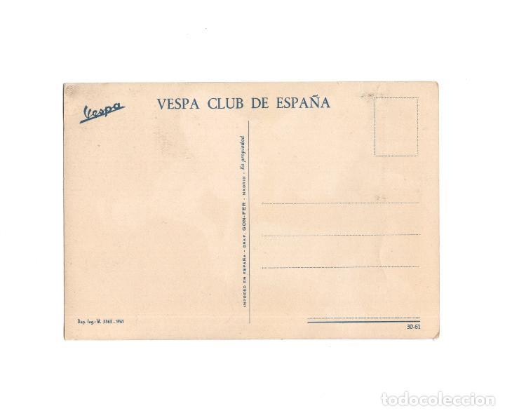 Postales: VESPA CLUB DE ESPAÑA. ED. GRÁFICAS GON-FER MADRID. - Foto 2 - 160361754