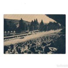 Postales: GRAN PREMIO DE EUROPA 1925.(CIRCUITO DE SPA). CAMPARI EN EL MOMENTO DE LLEGAR. ALFA ROMERO.. Lote 160365598