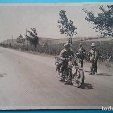 Postales: MOTOCICLETA CARRERA POSTAL FOTOGRÁFICA ESPAÑA SIN IDENTIFICAR AÑOS '30. Lote 160617978