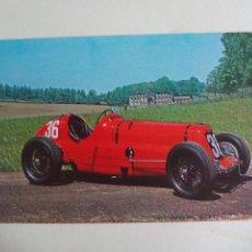 Postales: 1934 MASERATI 8CM POSTAL COCHE AUTOMOVILISMO O FORMULA 1. F1 POSTCARD THE DONINGTON COLLECTION. Lote 161187558