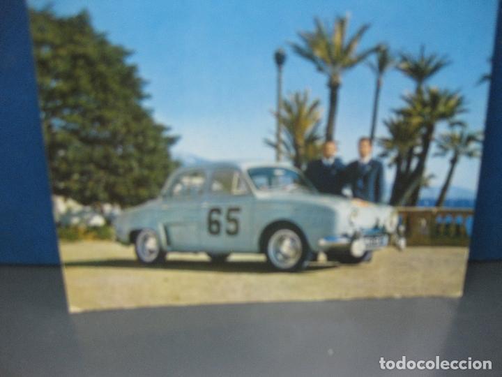 POSTAL RALLYE DE MONTE-CARLO 1958. RENAULT DAUPHINE TODAS LAS CATEGORIAS VENCEDORES MONRAISSE-FERET (Postales - Postales Temáticas - Coches y Automóviles)