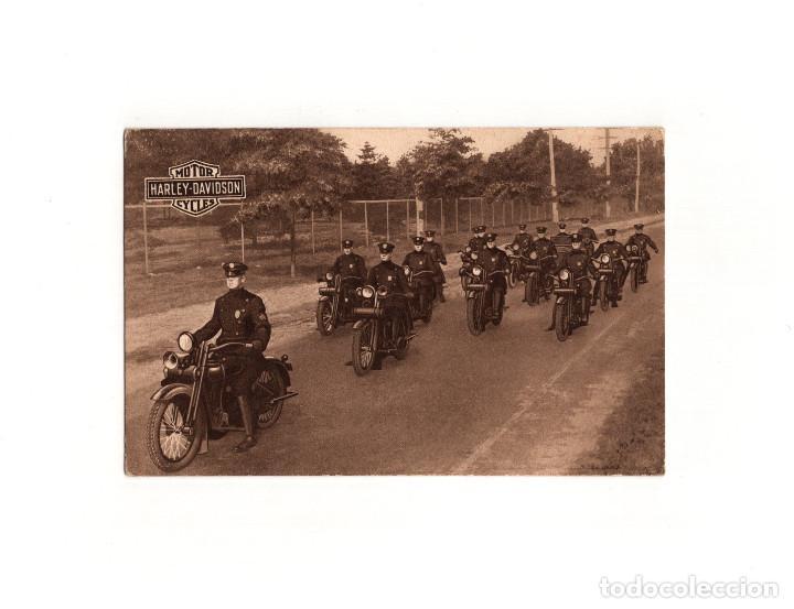 MOTOR CYCLES. HARLEY DAVIDSON. AUTOLOCOMOCIÓN. BARCELONA. (Postales - Postales Temáticas - Coches y Automóviles)