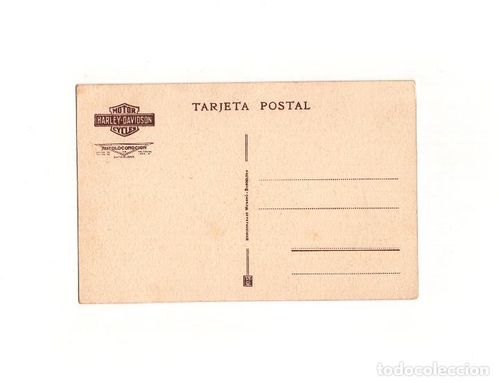 Postales: MOTOR CYCLES. HARLEY DAVIDSON. AUTOLOCOMOCIÓN. BARCELONA. - Foto 2 - 165547398