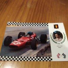 Postales: FERRARI F2 MOTOR DINO DE JACKY ICKX. Lote 166649342