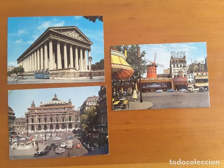 LOTE TRES POSTALES - PARIS (Postales - Postales Temáticas - Coches y Automóviles)