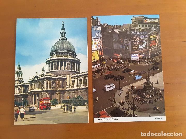 DOS POSTALES LONDON - AUTOMÓVILES (Postales - Postales Temáticas - Coches y Automóviles)