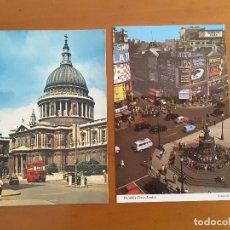 Postales: DOS POSTALES LONDON - AUTOMÓVILES. Lote 171198093