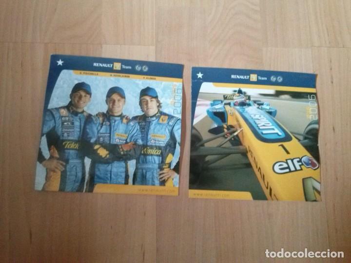 2 POSTALES OFICIALES DE RENAULT F1 TEAM DEL 2006 (Postales - Postales Temáticas - Coches y Automóviles)