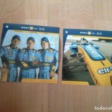 Postales: 2 POSTALES OFICIALES DE RENAULT F1 TEAM DEL 2006. Lote 171576784