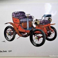 Postales: COCHE ANTIGUO: DE DION BOUTON 1901. NUEVA. COLOR. Lote 171658504