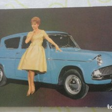 Postales: ANTIGUA POSTAL.FORD ANGLIA DE LUXE.WESTERN-GERMANY. A.BAGEL.. Lote 171988283
