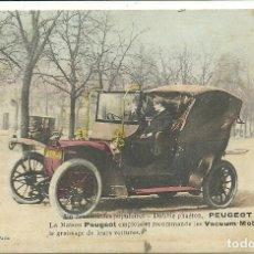 Postales: (PS-61502)POSTAL DE PEUGEOT 18 CHEVAUX.VACUUM-MOBILOILS. Lote 172169549