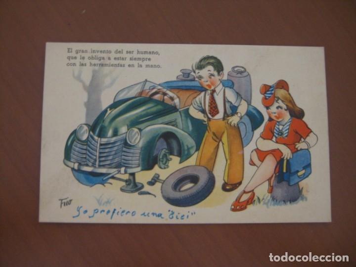 POSTAL DE COCHE (Postales - Postales Temáticas - Coches y Automóviles)