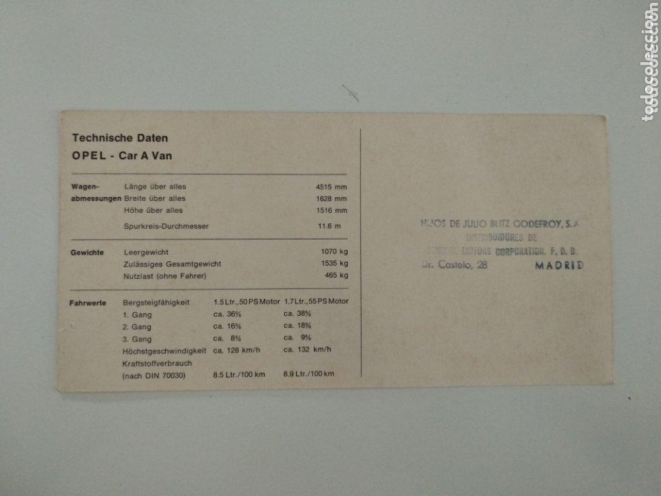 Postales: Postal Opel Car A Van en alemán - Foto 2 - 174152652