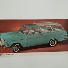 Postales: POSTAL OPEL CAR A VAN EN ALEMÁN. Lote 174152652