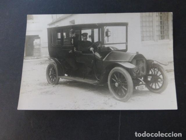 AUTOMOVIL BERLIET MATRICULA MADRID 1230 POSTAL FOTOGRAFICA HACIA 1910 (Postales - Postales Temáticas - Coches y Automóviles)