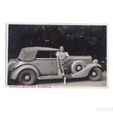 Postales: COCHE ANTIGUO. AUTOMOVIL.- POSTAL FOTOGRÁFICA.. Lote 175136178