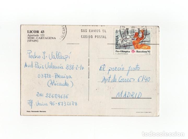 Postales: LICOR 43 - CAMPEONATO DEL MUNDO 1989 - MANUEL HERNANDEZ NICOLAS - Foto 2 - 175137507