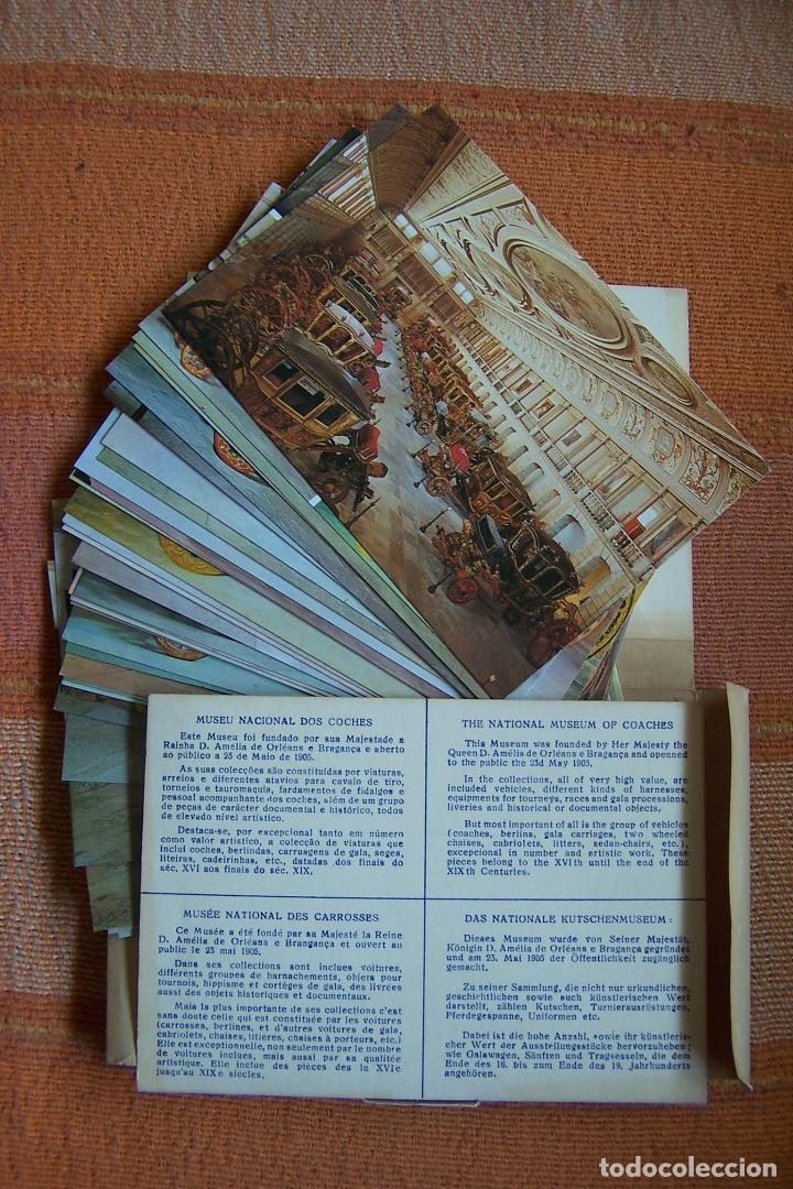 34 POSTALES DEL MUSEO DE COCHES DE LISBOA, PORTUGAL. EN SU CAJA ORIGINAL. (Postales - Postales Temáticas - Coches y Automóviles)
