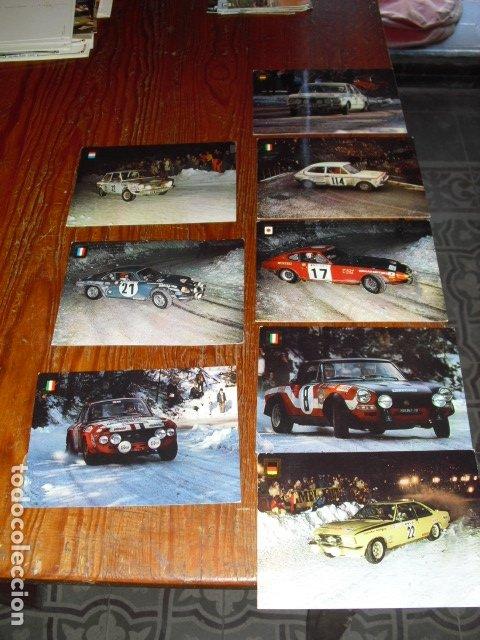 8 POSTALES - SERIE - AUTOMOVILES RALLYE - AÑOS 70 - (Postales - Postales Temáticas - Coches y Automóviles)