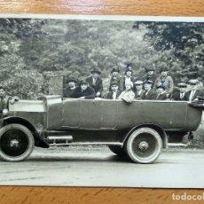 Postales: POSTAL FOTOGRAFICA. AUTOMOVIL COCHE AUTOBUS....CIRCULADA 1925.. Lote 177798285
