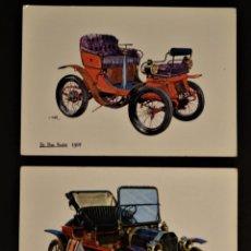 Postales: 2 ANTIGUAS POSTALES DE COCHES . Lote 178327616