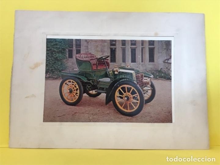 PANHARD LEVASSOR 1902 DESCAPOTABLE FOTO POSTAL EN MARCO DE CARTON IMPECABLE COCHE CLASICO (Postales - Postales Temáticas - Coches y Automóviles)