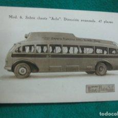 Postales: POSTAL CARROCERIAS MIRO-REIG. ALCOY. MOD. 6. SOBRE CHASIS ACLO. DIRECCION AVANZADA. 47 PLAZAS.. Lote 179383102